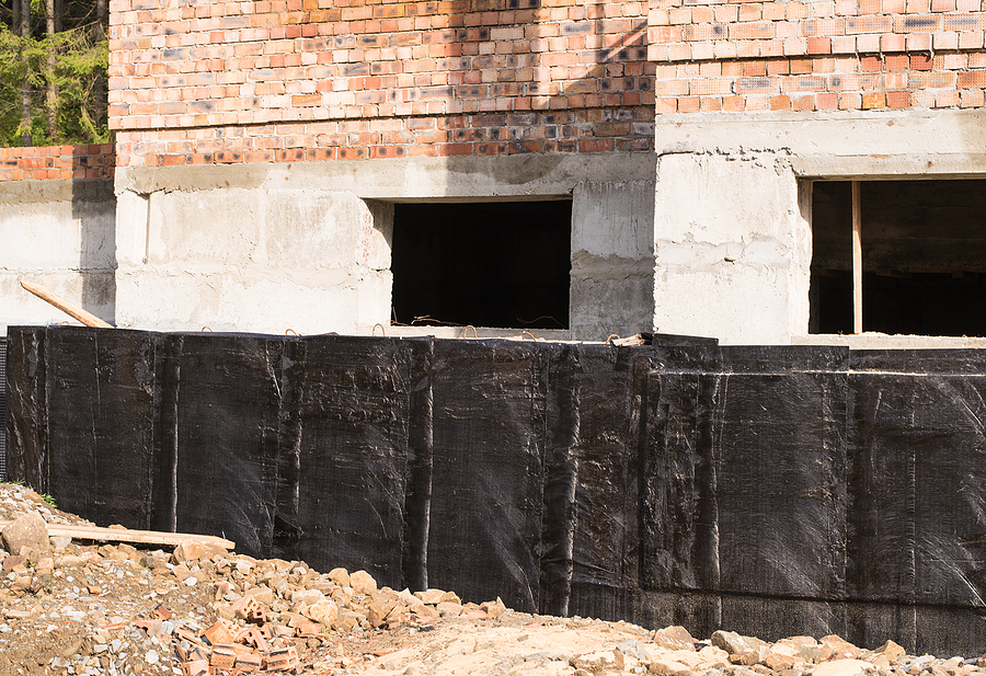 waterproofing the house's foundation